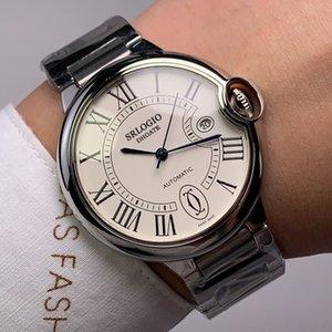 Top Mens Relógios Automático Assista Mecânica 42mm Sapphire Espelho Couro Strap À Prova D 'Água Moda Negócios de Negócios Montre de Luxe