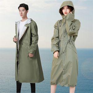 Raincoat men's long full body women's raincoat fashion couple light Book outdoor adult coat