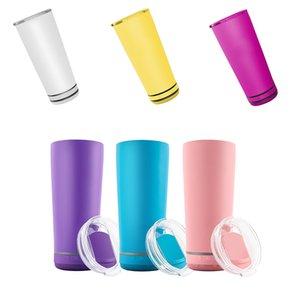 18oz Creativo Bluetooth Music Tazas Tazas Impermeable Altavoz Doble Pared Thermos Acero Inoxidable Botella de agua Taza portátil con cable de carga