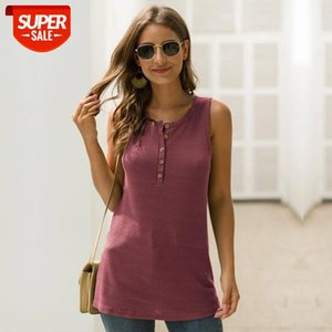 2020 neue Mode Tank Tops Streetwear Solide Polyester, Baumwolle Broadcloth Msfilia # 048D