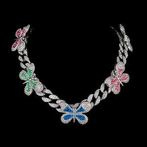 Gioielli hip hop gioielli stile gioielli colorato farfalla ciondolo collana roccia punk rapper ballerina essenziale girocollo donne regali