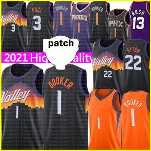 Девин 1 Букер Джерси Черный Deandre 22 Ayton Chris 3 Paul Trackys Ретро Сетка Стив 13 Nash Charles 34 Баскетбол Баскетбол Фиолетовый Оранжевый 2021