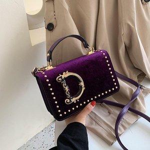 Fashion Letter Shoulder Bags Handbag Rivet Designer Velet Women Crossbody Messager Bag Luxurys Outdoor Travel PU Handbags Trendy Phone Pouch Christmas