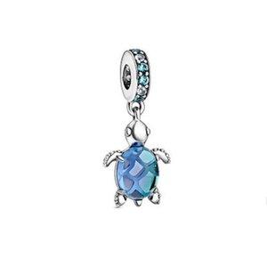 2020 Летние 925 Серебряные Океанские Волны Рыба Синяя Стекло Море Черемера Серьги Bashcle Bracte Bracete Серьги Rose Ring Кожаное Кожаное Ожерелье