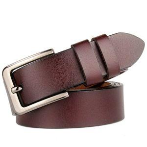 130 170 cm 150 160 Cinturón de cinturón Real Uine Cuero largo Plus Hombre Alto Pin High Pin para hebilla Tamaño Masculino Cinturones de vaca Cintura 140 correa 2021 Lavwk