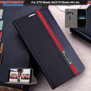 Boîtier de luxe PU en cuir PU pour ZTE Blade A6 Lite Téléphone Soft TPU Siliconen Housse arrière