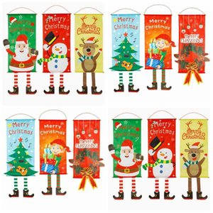 Christmas Hang Flags Creative Window Wall Atmosphere Pendant Decorated Flag Fashion Home Xmas Party Garden Banner TA-TA1869 E78D
