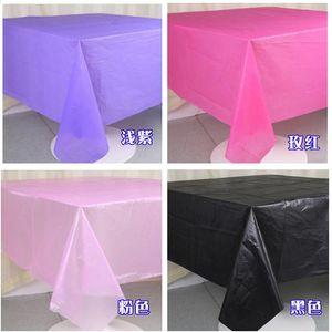 Disposable Table Covers 10pcs Tablecloth Party PE Waterproof Plastic Birthday Dessert Plain Color Banquet