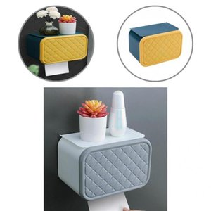 Tissue Boxes & Napkins PP Sturdy Desktop Decoration Box Easy Installation Container Punch-free Bathroom Supplies
