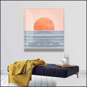 Paintings Arts, Crafts Gifts & Gardenpaintings Abstract Sunrise Landscape Sea Scene Canvas Print Painting Poster Wall Art Pictures For Livin