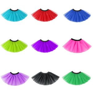 Girls Tutu Skirts Kids Clothes Net Yarn Ballets Pettiskirt Stage Dancewear Costume Summer Tulle Children Princess Mini Dress GWC7063