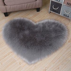 17 Colors lovely peach heart carpet home textile multifunctional plush footcloth living room bedroom decoration rug heart-shaped anti slip floor mat