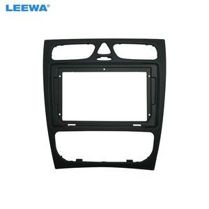 LEEWA Car 9 Inch Audio Face Plate Fascia Frame For Mercedes-Benz C-CLASS 2Din Big Screen Radio Stereo Panel Dash Mount Frame Kit #5308