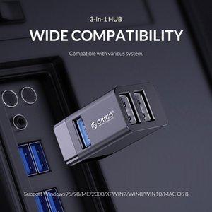 Hubs Mini-U32 Mini 3 في 1 داخل خط USB Hub 3-ميناء بدعم متعدد الفاصل موسع محول لأجهزة الكمبيوتر المحمول الملحقات T35