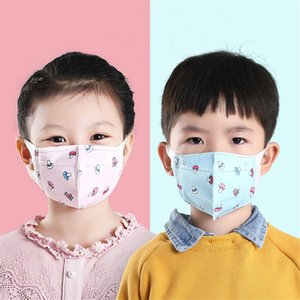 face mask Children's disposable 3D masks for boys and girls cartoon cute dustproof breathable 3-layer non-woven meltblown cloth facemask