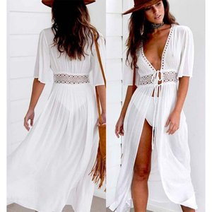 Swimwears Summer Bikini Cover Ups Coat Swimwearssuit Lace Beachwear Sun Protection Clothes Knitted Beach Dress Women Cover-ups