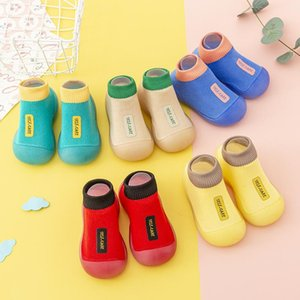 Fashion Criança Sapatos Bebé 2021 Meias Crianças Baotou Boy Sneakers First Walkers