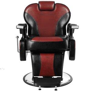 Hand Hydraulic Recline Tattoo Chair Salon Barber Hair Stylist Heavy Duty Shampoo Beauty Salon Equipment - Red by sea OWB10340