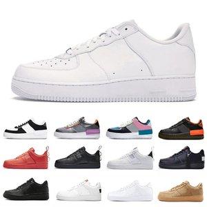 Shadow Nike Air Force 1 No. 1 zapatos bajos de moda para hombres y mujeres patineta para correr casual tres en uno zapatillas deportivas de diseñador en blanco y negro