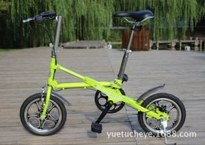 New X-Front brand 14 inch Carbon Steel 7 speed fast folding bike road bicicleta quality children mini bicycle green