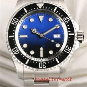 Luxo Mens Relógios 44mm Sea-Dweller 126660 Relógio Automático Cerâmica Bezel Relógios De Aço Inoxidável Glide Lock Clasp 2813 Movimento Mens Mens WATC