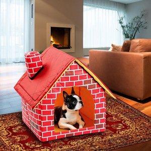Cross-frontery Pet Kennel Dog Home Four Seasons desmontable, productos pequeños para interiores, Cat Villa. Pensinas de las perreras