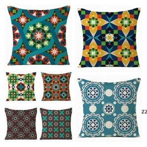 Home Textiles Moroccan pillow case mosaic Arab cushion cover single-sided linen four seasons universal Bedding Supplies HWB10407
