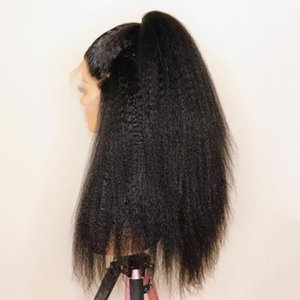 Lace Wigs 250% 16-30 Inch Kinky Straight HD Transparent 13x4 Front Human Hair For Women Remy Peruvian Pre Plucked Wig