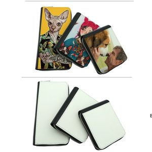 Sublimation Wallet Full zipper Purse storage bags Blank PU material Wallets 3 sizes DHE6736