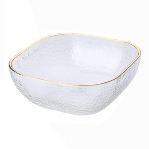 Bowls Glass Salad Bowl Fruit Rice Serving Storage Container Transparent For Fruits Vegetables Desserts