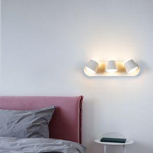 Modern simple LED wall lamp 360 degree rotatable lighting indoor bedside bedroom corridor staircase