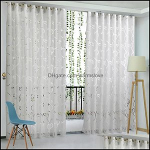 Drapes Deco El Supplies Home & Gardenfloral Vine Leaf Partition Curtain Polyester Modern Curtains Living Room Balcony Window Sheer For Bedro
