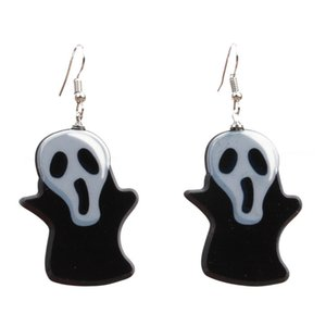 Halloween Jewelry Acrylic Personalized Skull Ghost Earrings Halloween Fear Skull Ghost Head Earrings Drop shippingDIO CHAN CONTACT