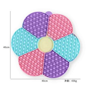 40CM Giant Flower Chessboard Pioneer Fidget Toys Push Poppers Children's Super Large Size Poo-its Desktop Game Silicone Decompression Toy G936M0G
