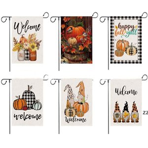 Fall Welcome Garden Flag Floral Thankful 12*18 Halloween Inch Double Sided Vertical Rustic Farmhouse Yard Seasonal Holiday Outdoor HWF10358