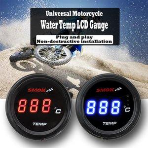 Moto universel LCD instruments numériques thermomètre Température Température Température - Bleu rouge