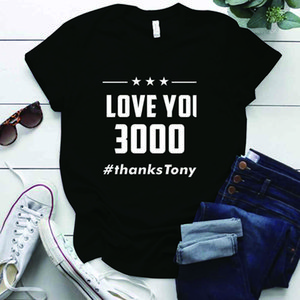 I LOVE YOU 3000 Letter Printing Music T Shirt for Women Harajuku Plus Size S-5xl Tops Casual IronMan Classic Lines Woman Tshirts