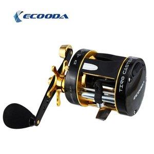 Ecooda Brand تيرو المذرة السابقين قارب الصيد بكرة 5.3: 1 القفز 5 + 1 bb البحر التصيد طبل بكرات baitcasting