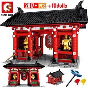 SEMBO 2017PCS City Street View Classical House Building Blocks Architecture Assembly Figures Bricks Toys For Children