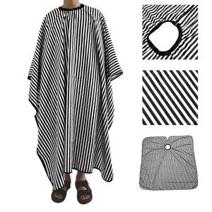 Регулируемые черно-белые полосой парикмахерские платье для волос режущие волосы / парикмахера накидки, для салонов домашнего использования стрижки аксессуары # P30