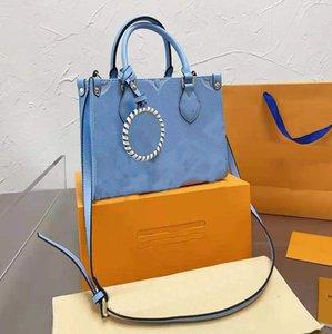 Exclusive designer fashion leather embossed high-quality shopping bag handbag trendy messenger shoulder