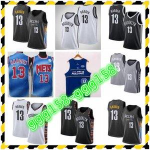 2021 جيمات كرة السلة جيمس Hardenbrooklynets اللاعبين الأساسية التطريز، المحكمة؛ swingmen خياطة جيرسي تسليم سريع