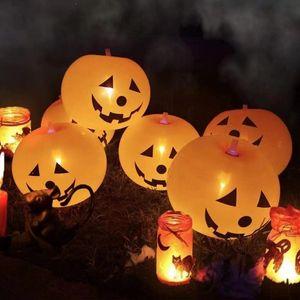 5 / pcs Decorações de Halloween Decorações de ar balão de ar halloweenpumpkkkkin ghostballoons brilhar brilhar brinquedos infláveis Globos abóbora balões dão luz
