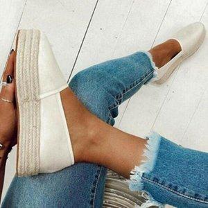 Laamei Shose Women Plus 2021 Womens Slip Espadrilles Ladies Fashion Summer Size Platform On Comfy Loafers Shoes Pumps New Qtvij