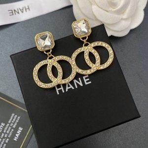 Designer earrings Jewellery2021 new versatile small fragrance acrylic women's double-C gold studded Earrings LXT3 15OC