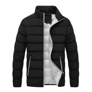 Men's winter down jacket Winter Men Jacket Mens New Casual Thicken Warm Cotton Slim Clothes Youth Soild Men's Wear