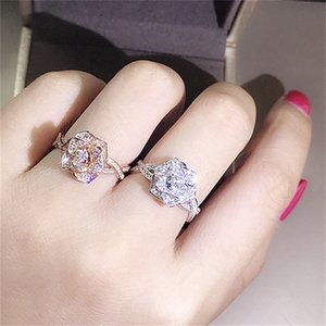 Unique Luxury Jewelry Sterling Silver Multi Style Ring White Topaz CZ Diamond Gemstones Women Wedding Band Ring for Lovers 1637 T2