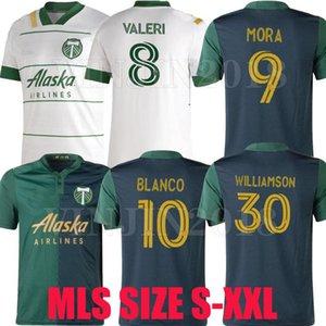 MLS 21 22 Portland Timbers Soccer Jerseys Casa Away 2021 2022 Camisetas de fútbol Valeri Mora Williamson Blanco Niezgoda Chara Football Unif