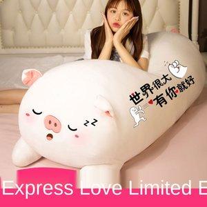 Cute pig doll cuddle pillow girl sleeping plush bear big size bed