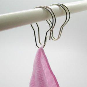 High quality New Good Shower Bath Bathroom Curtain Rings Clip Easy Glide Hooks ZZE5257
